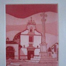 Arte: LOS SILOS, BURJASSOT - INTERESANTE GRABADO DE GAP (GUILLERMO ANTÓN PARDO) - 29,5 X 29,5 CM. Lote 151527450