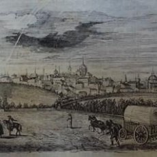 Arte: EXCEPCIONAL GRABADO 1843. ORIGINAL. VISTA DE MADRID. 25 X 12 CM. DIFICILISIMO. EL LABERINTO . Lote 151587666