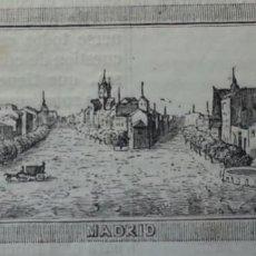 Arte: EXCEPCIONAL GRABADO 1845. ORIGINAL. VISTA DE MADRID. 6 X 4 CM. DIFICILISIMO. EL LABERINTO . Lote 151587826