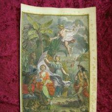 Arte: FRONTISPICIO DEL ATLAS HISTÓRICO, 1739. ZACHARIE Y ABRAHAM CHATELAIN/PICART. Lote 151593509
