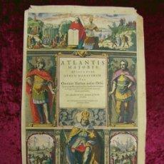 Arte: FRONTISPICIO DEL ATLAS NOVUS, 1650. JANSSONIUS. Lote 151596370