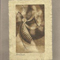 Arte: MARISA BLANCO. AGUAFUERTE. FIRMADO A MANO. DON QUIJOTE DE LA MANCHA. CORTADERA. 1995. ARGENTINA. . Lote 151597842