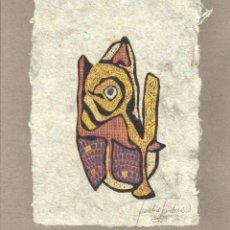 Arte: CLAUDIA GUIDONE. XILOGRAFÍA. FIRMADO A MANO. DON QUIJOTE DE LA MANCHA. CORTADERA. 1995. ARGENTINA. . Lote 151598218