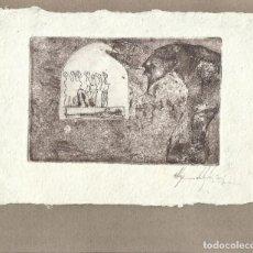 Arte: ALEJANDRO IGLESIAS AGUAFUERTE FIRMADO A MANO. DON QUIJOTE DE LA MANCHA. ALGODÓN. 1995. ARGENTINA. . Lote 151598342