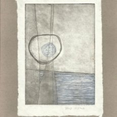 Arte: PAULA MURCIA. AGUAFUERTE. FIRMADO A MANO. DON QUIJOTE DE LA MANCHA. 1995. ARGENTINA. . Lote 151598446