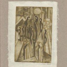 Arte: LEONOR ORTUBIA. AGUAFUERTE. FIRMADO A MANO. DON QUIJOTE DE LA MANCHA. 1995. ARGENTINA.. Lote 151598518