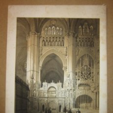 Arte: PÉREZ VILLAAMIL. SEPULCRO DEL CARDENAL MENDOZA EN LA CATEDRAL DE TOLEDO. Lote 151719086