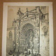 Arte: PÉREZ VILLAAMIL. PUERTA DE LOS LEONES EN LA CATEDRAL DE TOLEDO. Lote 151719282