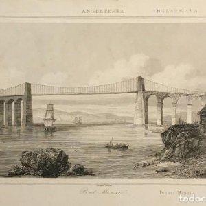 Inglaterra. Puente Menaï. Lemaitre Direxit 24x30 cm