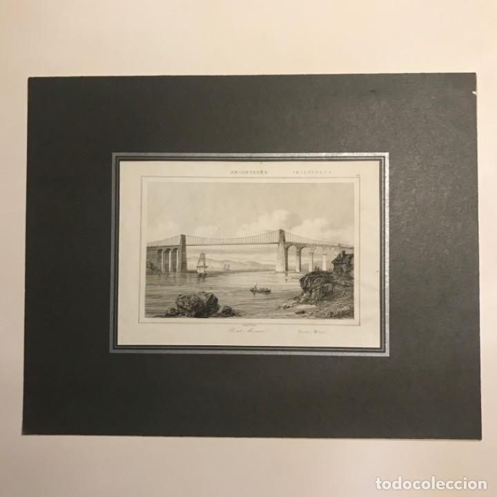 Arte: Inglaterra. Puente Menaï. Lemaitre Direxit 24x30 cm - Foto 2 - 152249234