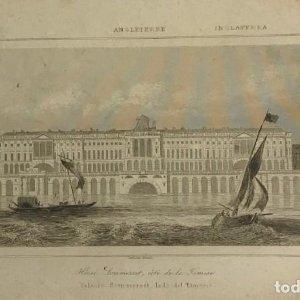 Inglaterra. Palacio Sommerset, lado del Támesis. Lemaitre Direxit 25x18 cm