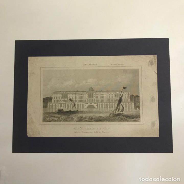 Arte: Inglaterra. Palacio Sommerset, lado del Támesis. Lemaitre Direxit 25x18 cm - Foto 2 - 152250882