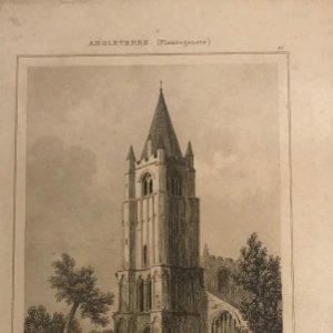 Inglaterra (Periodo Plantagenetes). Iglesia Watsoken, Norfolk. Lemaitre Direxit 12,1x20 cm