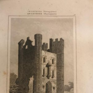 Inglaterra (Periodo Plantagenetes). Torre Middleton, Norfolk. Lemaitre direxit 12,8x19,9 cm