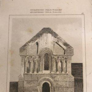 Inglaterra (Periodo Normando). Ruinas de la Iglesia del Castillo de Norfolk 12,7x19,4 cm