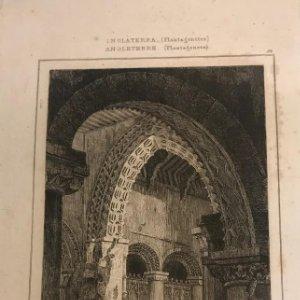 Inglaterra (Periodo Normando). Iglesia Walsoken, Norfolk 14x9 cm