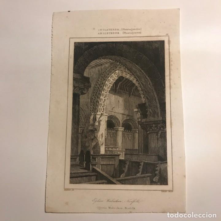 Arte: Inglaterra (Periodo Normando). Iglesia Walsoken, Norfolk 14x9 cm - Foto 2 - 152254102