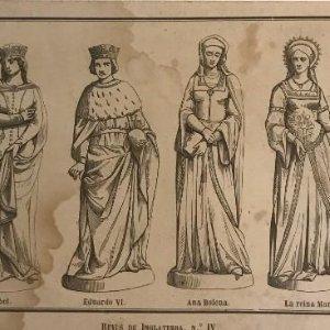 Inglaterra. Reyes de Inglaterra, Nº IV. 20,9x10,7 cm