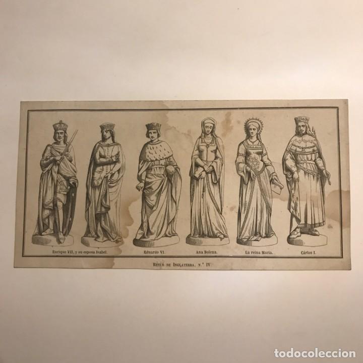 Arte: Inglaterra. Reyes de Inglaterra, Nº IV. 20,9x10,7 cm - Foto 2 - 152256558