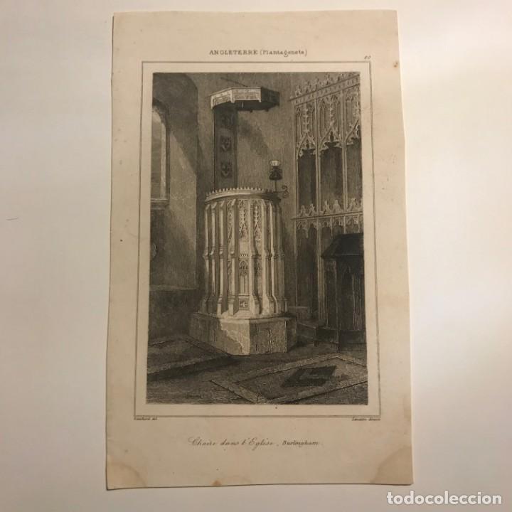 Arte: Inglaterra (Plantagenetes). Púlpito en la Iglesia. Burlingham 12,8x19,5 cm - Foto 2 - 152258314