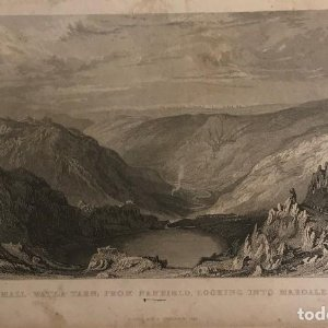 Inglaterra. Small-Water tarn, from nanbield, looking into mardale. T. Allom. J. Sands 19,8x12,5 cm