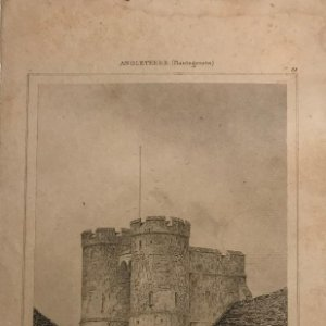 Inglaterra. (Plantagenetes). Puerta de Canterbury. Gibert de. Lemaitre Direxit 12,1x19,8 cm