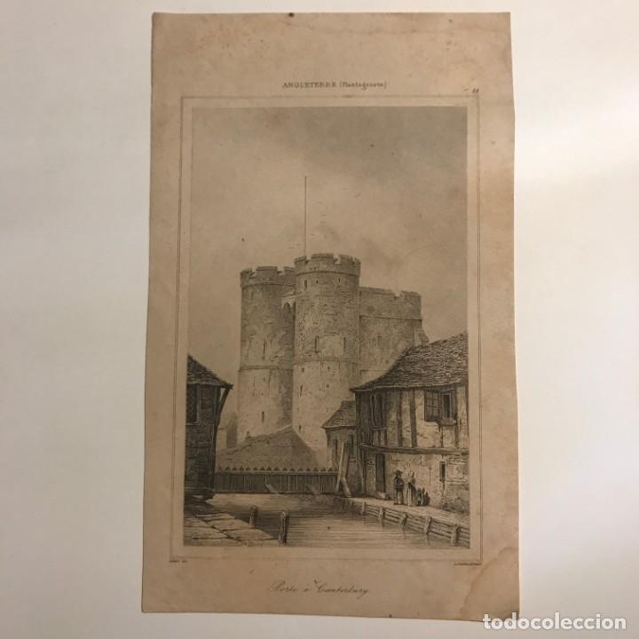 Arte: Inglaterra. (Plantagenetes). Puerta de Canterbury. Gibert de. Lemaitre Direxit 12,1x19,8 cm - Foto 2 - 152260170