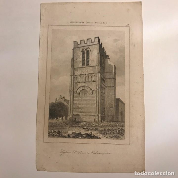 Arte: Inglaterra. (Periodo Normando). Iglesia St. Pierre Northampton 12,4x20 cm - Foto 2 - 152264682