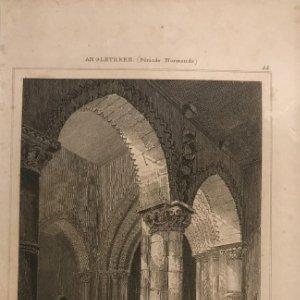 Inglaterra. (Periodo Normando). Iglesia St. Pierre Northampton 12,8x19,6 cm