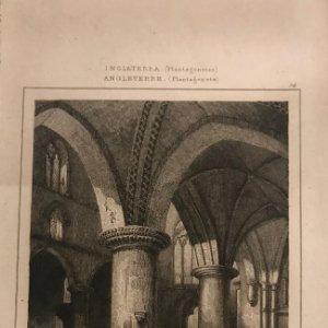 Inglaterra. (Plantagenetes). Iglesia de Santa Cruz. Hamshire 19,8x12,8 cm