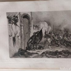 Arte: GRABADO. LOS ESPAÑOLES EN ÁFRICA. DE LA OBRA HISTORIA GENERAL DE ESPAÑA Y DE SUS INDIAS.. Lote 152268186