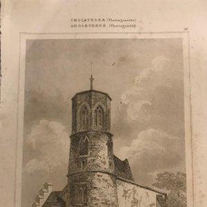 Inglaterra. (Plantagenetes) Torre de la Iglesia Beecham-well. Norfolk 13x19,7 cm