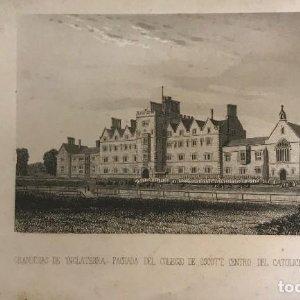Inglaterra. Fachada del colegio de Oscott, centro del catolicismo inglés 14x22,7 cm