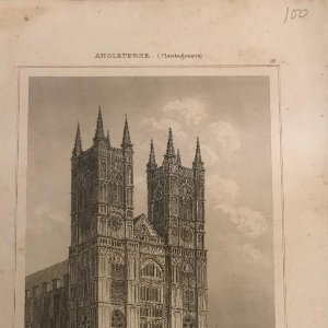 Inglaterra. Iglesia de Westminster 12,2x20 cm