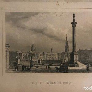 Inglaterra. Plaza de Trafalgar en Londres 15,6x24,4 cm