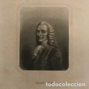 Grabado antiguo de François-Marie Arouet Voltaire