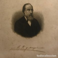 Arte: FRANCISCO PI Y MARGALL (1804-1921) 21,2X27,2 CM. Lote 149260334