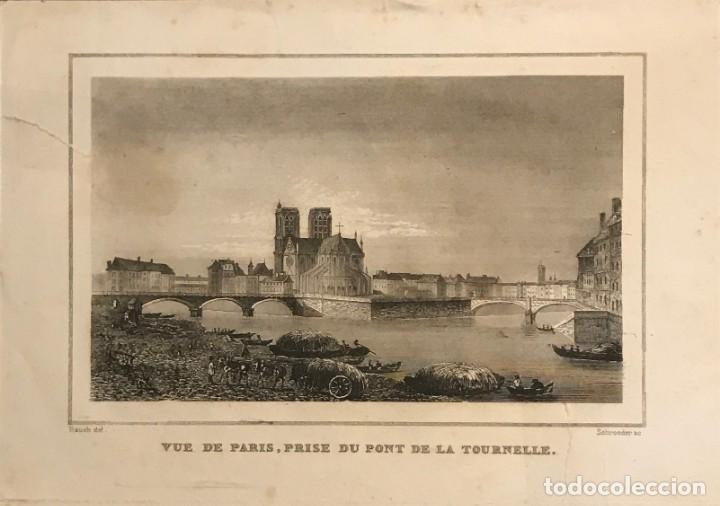 FRANCIA. VUE DE PARIS, PRISE DU PONT DE LA TOURNELLE. 24X30 CM (Arte - Grabados - Modernos siglo XIX)