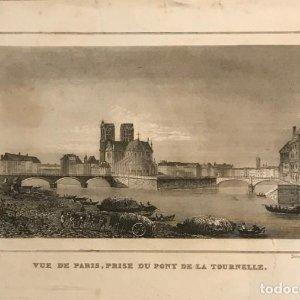 Francia. Vue de Paris, prise du pont de la tournelle. 24x30 cm