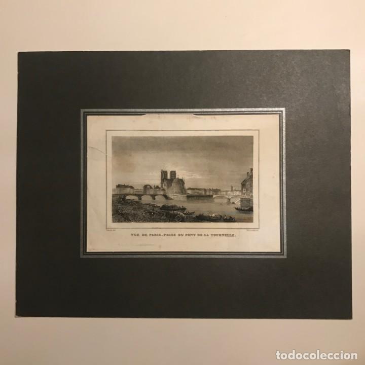 Arte: Francia. Vue de Paris, prise du pont de la tournelle. 24x30 cm - Foto 2 - 152309154