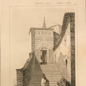 Francia (s.XI). Puerta de la Capilla de San Miguel en el Puy 24x30 cm