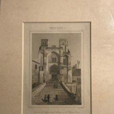Arte: FRANCIA (S.XIV). FACHADA DE LA IGLESIA DE LA ABADÍA DE LA CHAISE-DIEU 22X27 CM. Lote 152310602