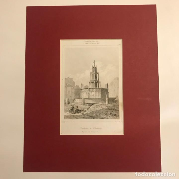 Arte: Francia (s.XII). Fuente en Clermont 24x30 cm - Foto 2 - 152311262