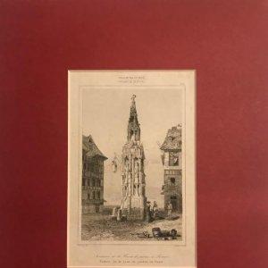 Francia (s.XIV). Fuente de la Cruz de piedra, en Ruan 24x30 cm