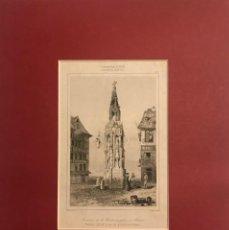 Arte: FRANCIA (S.XIV). FUENTE DE LA CRUZ DE PIEDRA, EN RUAN 24X30 CM. Lote 152311478