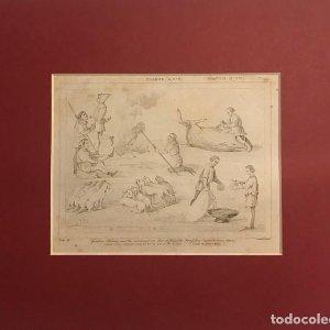 Francia (s.XIV). Gastón Febo enseña como se ha de partir al Jabalí 24x30 cm