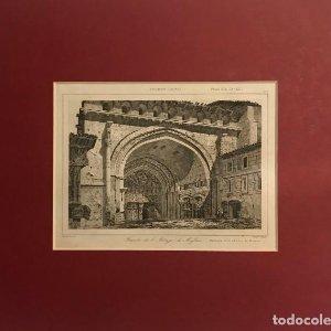 Francia (s.XII). Fachada de la Abadía de Moissac 24x30 cm