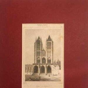 Francia (s.XIII). Iglesia en Noyon 24x30 cm