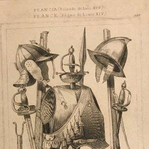 Francia (Reinado de Luís XIV). Armas 15,5x22,6 cm