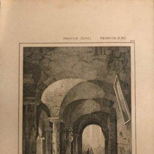 Francia (s.XI). Iglesia subterránea de Nª Sª del Puerto en Clermont 20,6x12,8 cm